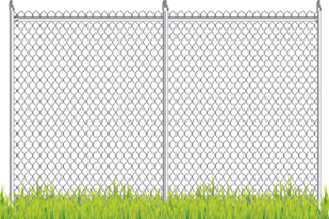 Commercial Fencing in Buffalo Grove IL sitting in grass