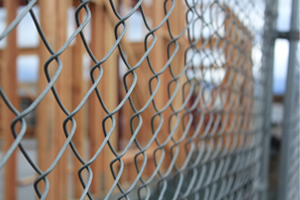Closeup of Commercial Fencing in Naperville IL