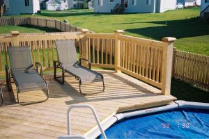 Beautiful Backyard Deck Installed by America's Backyard Fencing and Decking