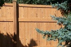 Beautiful Cedar Fence Installed by America's Backyard Fencing and Decking