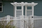Beautiful Vinyl Fence Installed by America's Backyard Fencing and Decking