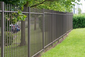 A Metal Fence in Joliet IL around a commercial property