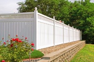 A white vinyl fence installed by a Fence Company in Joliet IL
