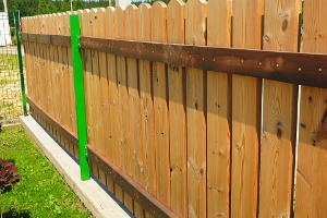 A new wood fence after Fence Installation in Joliet IL
