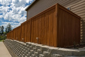 A tall, wood Privacy Fence in Lockport IL