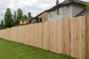 House Gaurded By Privacy Fence in Minooka IL